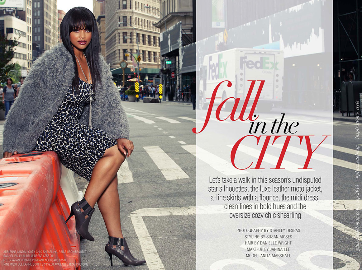 Plus Model Magazine – Fall in the City