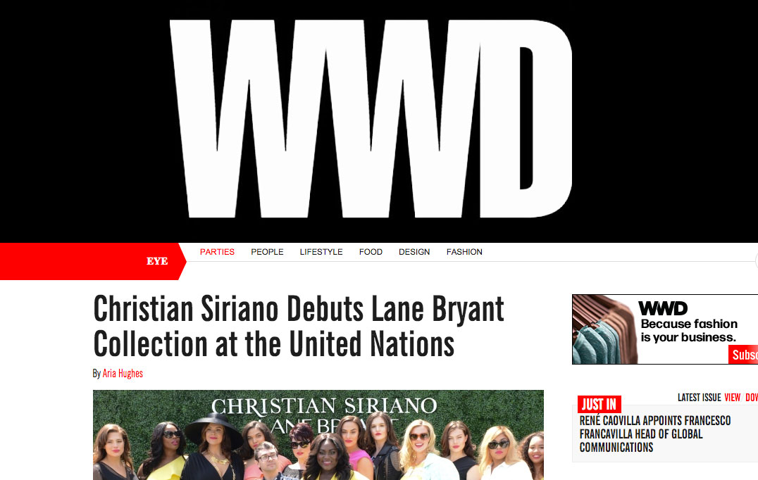 Christian Siriano Debuts Lane Bryant Collection at the United Nations - WWD